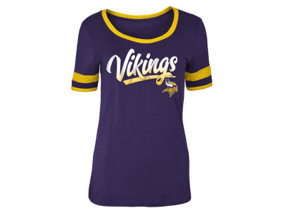 Minnesota Vikings 5th & Ocean NFL Women's Rayon Scoop T-Shirt