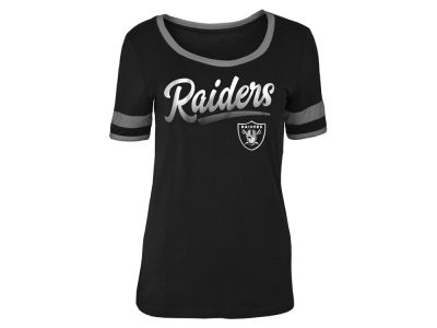 Oakland Raiders 5th & Ocean NFL Women's Rayon Scoop T-Shirt