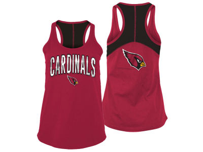 Arizona Cardinals 5th & Ocean NFL Women's Foil Colorblock Tank
