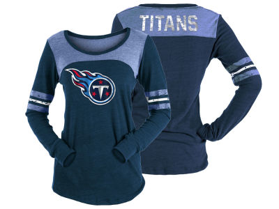 Tennessee Titans 5th & Ocean NFL Women's Tri-Blend Distressed Long Sleeve T-Shirt