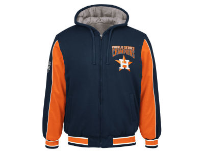Houston Astros G-III Sports MLB Men's World Series Champion Hooded Fleece Jacket