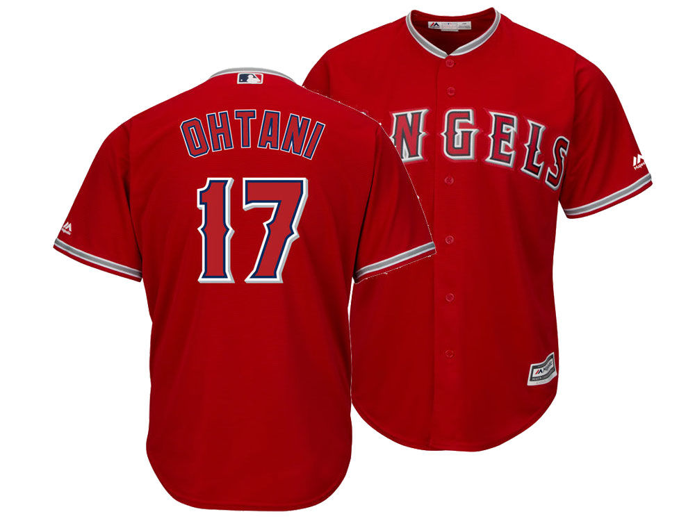 Los Angeles Angels Shohei Ohtani Majestic MLB Men s Player Replica Cool  Base Jersey  48db516fa4