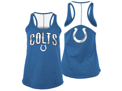 Indianapolis Colts 5th & Ocean NFL Women's Foil Colorblock Tank
