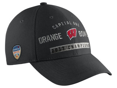 Wisconsin Badgers Nike 2017 NCAA Orange Bowl Champ Cap