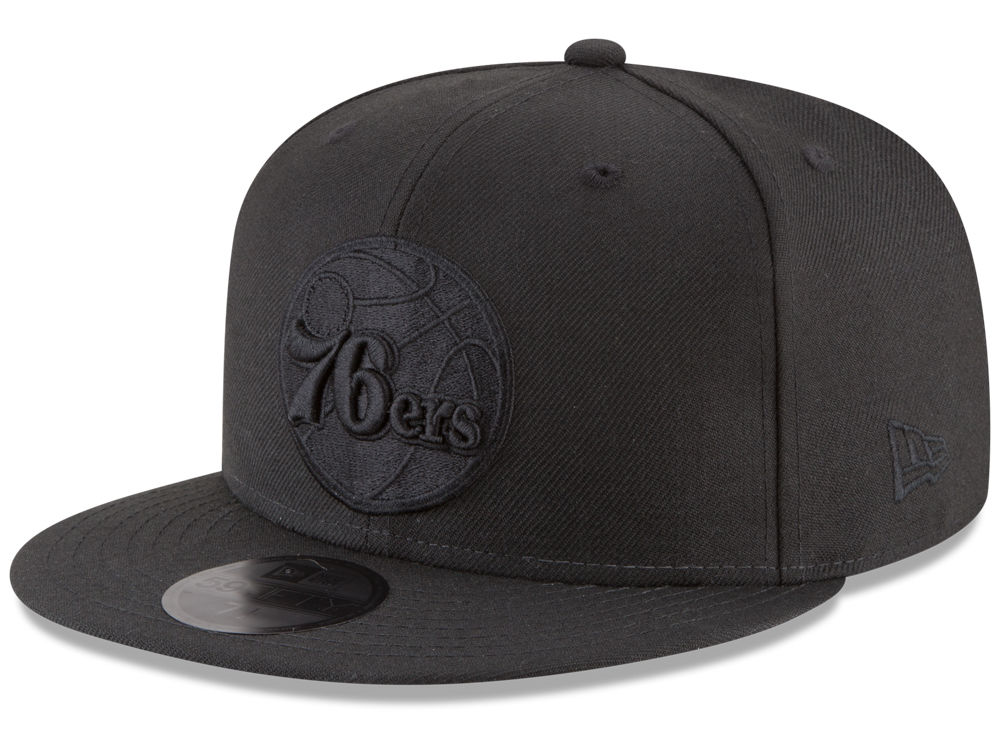 Philadelphia 76ers New Era NBA Blackout 59FIFTY Cap  7e3cbeb2602c
