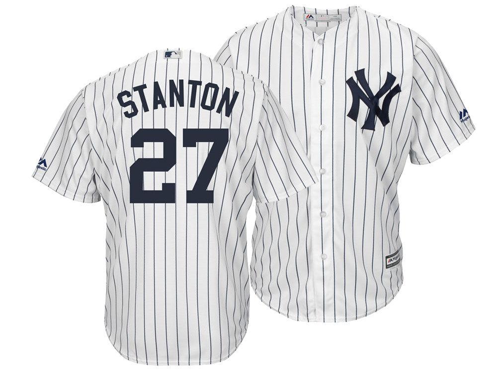 New York Yankees Giancarlo Stanton Majestic MLB Men s Player Replica Cool  Base Jersey 1ae9cc429