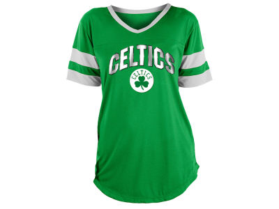 Boston Celtics 5th & Ocean NBA Women's Mesh T-Shirt