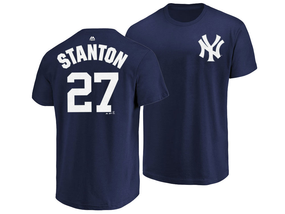 New York Yankees Giancarlo Stanton Majestic MLB Men s Official ... 0b3532ee39c
