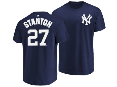 New York Yankees Giancarlo Stanton Majestic MLB Men's Official Player T-Shirt