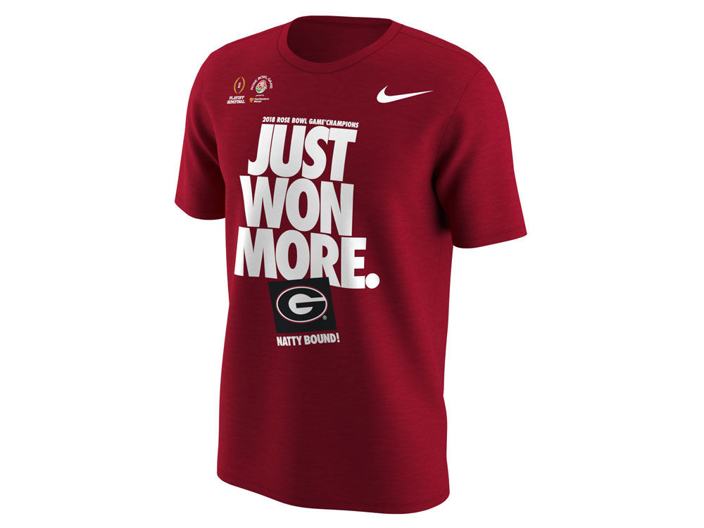 9996b1df5 Georgia Bulldogs Nike 2018 NCAA Men s College Football Playoff Rose Bowl  Champ Locker Room T-Shirt
