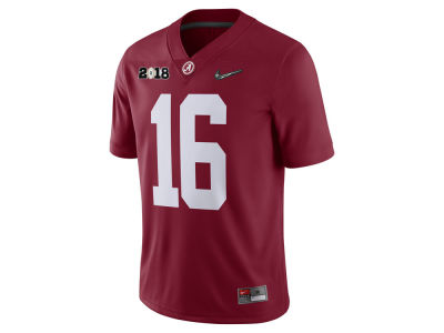Alabama Crimson Tide Nike 2018 NCAA Men's College Football Playoff National Championship Game Patched Game Jersey
