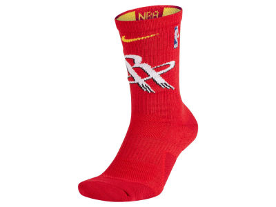Houston Rockets Nike NBA Men's Elite Team Crew Socks