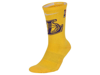 6aa3d965d Los Angeles Lakers Nike NBA Men s Elite Team Crew Socks