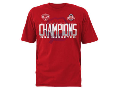 Ohio State Buckeyes DCM 2017 NCAA Men's Cotton Bowl Champ Locker Room T-Shirt