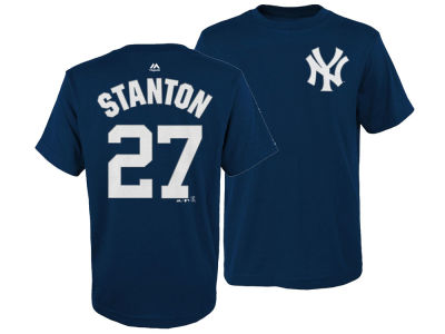 New York Yankees Giancarlo Stanton Majestic MLB Kids Official Player T-Shirt