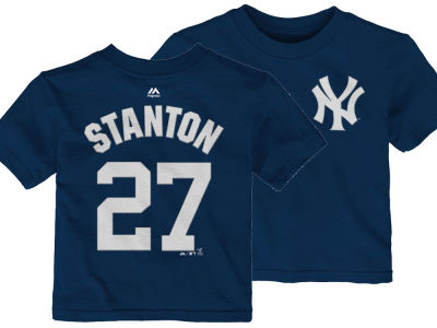 New York Yankees Giancarlo Stanton Majestic MLB Toddler Official Player T-Shirt