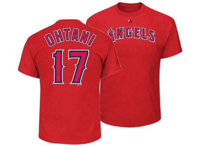 Los Angeles Angels Shohei Ohtani Majestic MLB Youth Official Player T-Shirt
