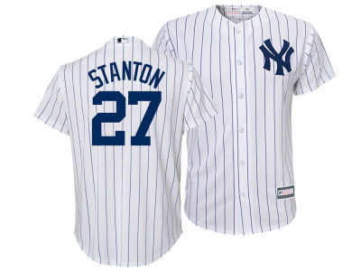 New York Yankees Giancarlo Stanton Majestic MLB Kid's Player Replica Cool Base Jersey