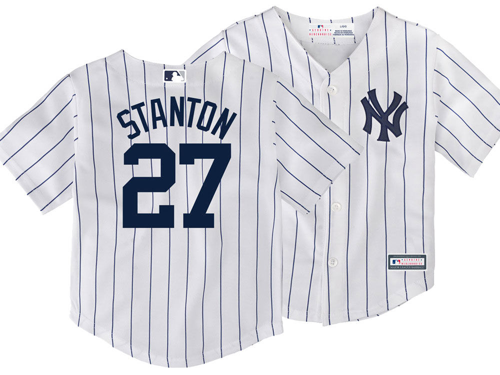 New York Yankees Giancarlo Stanton Majestic MLB Toddler Player Replica Cool  Base Jersey  802664f8008