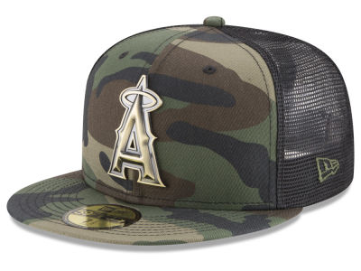 Los Angeles Angels New Era MLB Camo Mesh Back 59FIFTY Cap