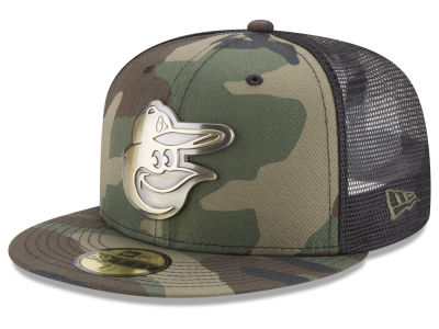 Baltimore Orioles New Era MLB Camo Mesh Back 59FIFTY Cap