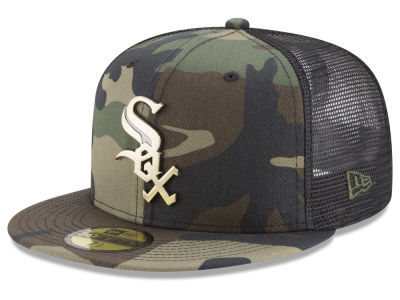 Chicago White Sox New Era MLB Camo Mesh Back 59FIFTY Cap