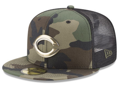 Cincinnati Reds New Era MLB Camo Mesh Back 59FIFTY Cap