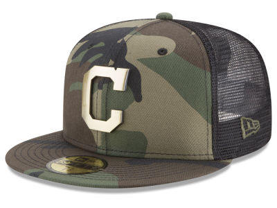 Cleveland Indians New Era MLB Camo Mesh Back 59FIFTY Cap
