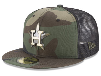 Houston Astros New Era MLB Camo Mesh Back 59FIFTY Cap