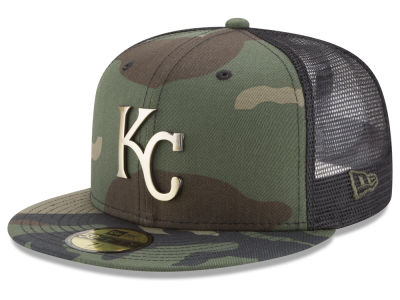 Kansas City Royals New Era MLB Camo Mesh Back 59FIFTY Cap