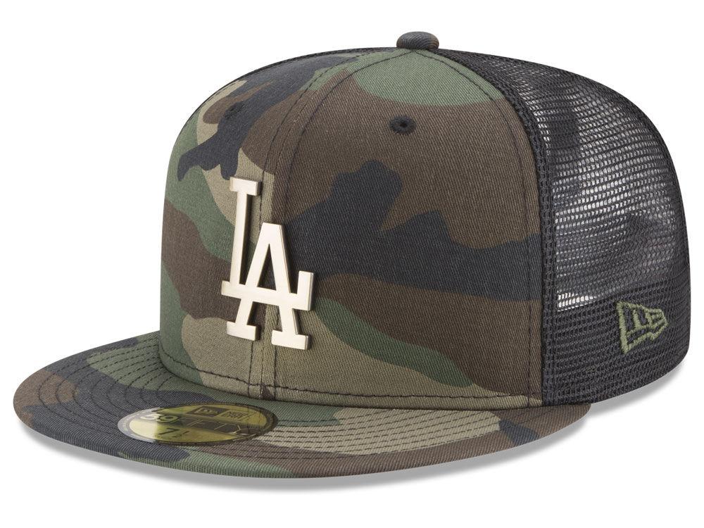 Los Angeles Dodgers New Era MLB Camo Mesh Back 59FIFTY Cap  cbc543c0310b