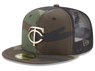 Minnesota Twins New Era MLB Camo Mesh Back 59FIFTY Cap