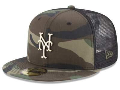 New York Mets New Era MLB Camo Mesh Back 59FIFTY Cap