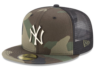New York Yankees New Era MLB Camo Mesh Back 59FIFTY Cap