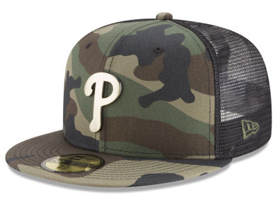 Philadelphia Phillies New Era MLB Camo Mesh Back 59FIFTY Cap