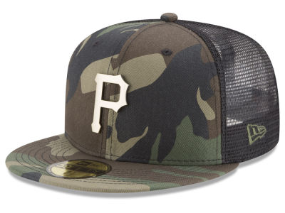 Pittsburgh Pirates New Era MLB Camo Mesh Back 59FIFTY Cap