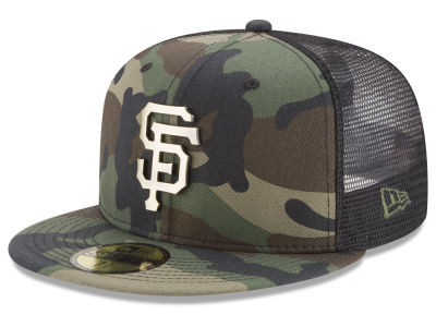 San Francisco Giants New Era MLB Camo Mesh Back 59FIFTY Cap