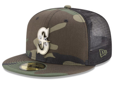 Seattle Mariners New Era MLB Camo Mesh Back 59FIFTY Cap