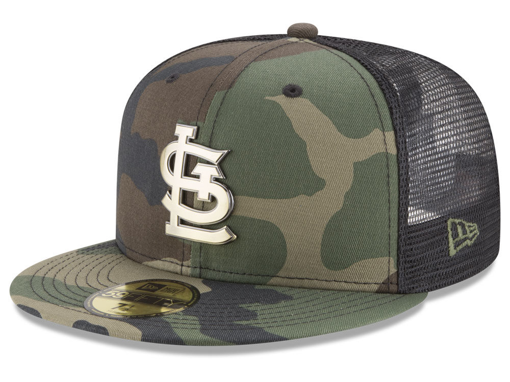 St. Louis Cardinals New Era MLB Camo Mesh Back 59FIFTY Cap  cab87ae66e3