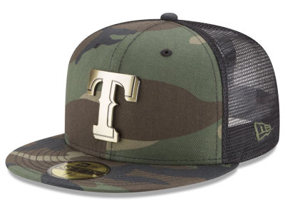Texas Rangers New Era MLB Camo Mesh Back 59FIFTY Cap