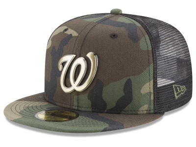 Washington Nationals New Era MLB Camo Mesh Back 59FIFTY Cap