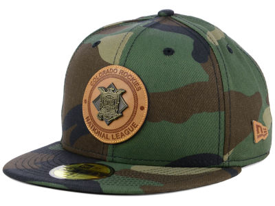 Colorado Rockies New Era MLB Camo Badge 59FIFTY Cap