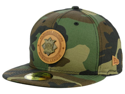 Milwaukee Brewers New Era MLB Camo Badge 59FIFTY Cap
