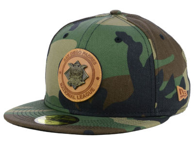 San Diego Padres New Era MLB Camo Badge 59FIFTY Cap