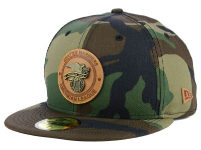 Seattle Mariners New Era MLB Camo Badge 59FIFTY Cap
