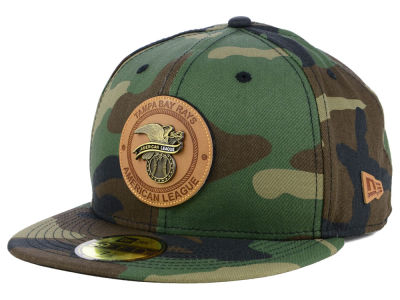 Tampa Bay Rays New Era MLB Camo Badge 59FIFTY Cap