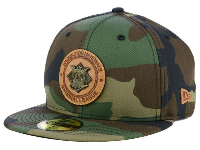 Washington Nationals New Era MLB Camo Badge 59FIFTY Cap