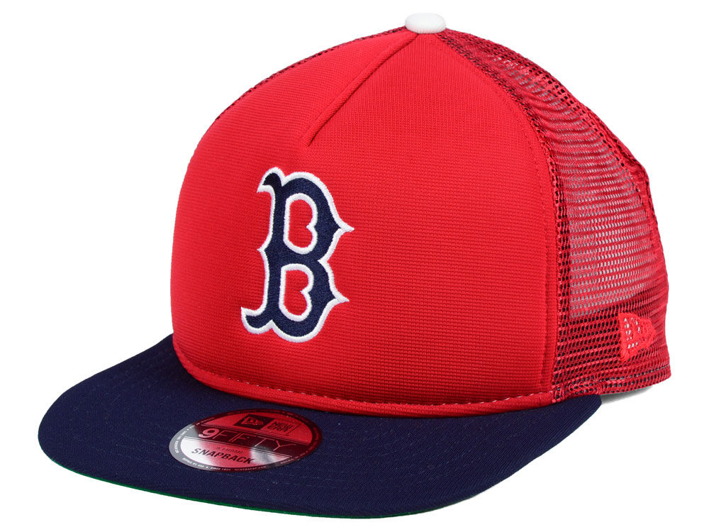 Boston Red Sox New Era MLB Classic Trucker 9FIFTY Snapback Cap ... 2433485ea6a