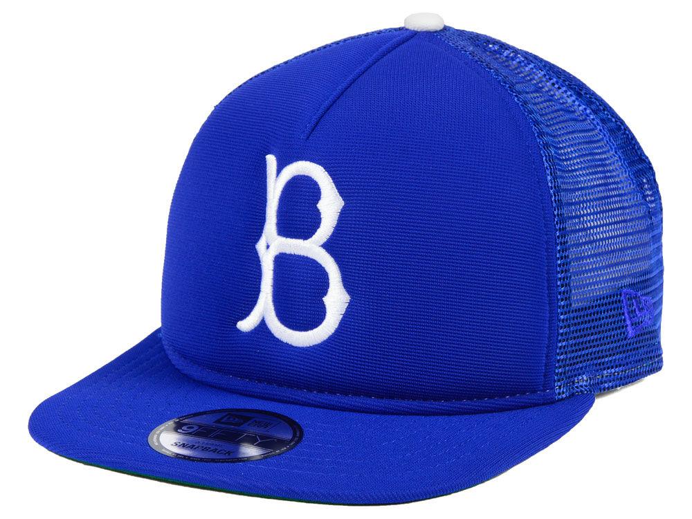 Brooklyn Dodgers New Era MLB Classic Trucker 9FIFTY Snapback Cap ... 4cb9dbfd8b86