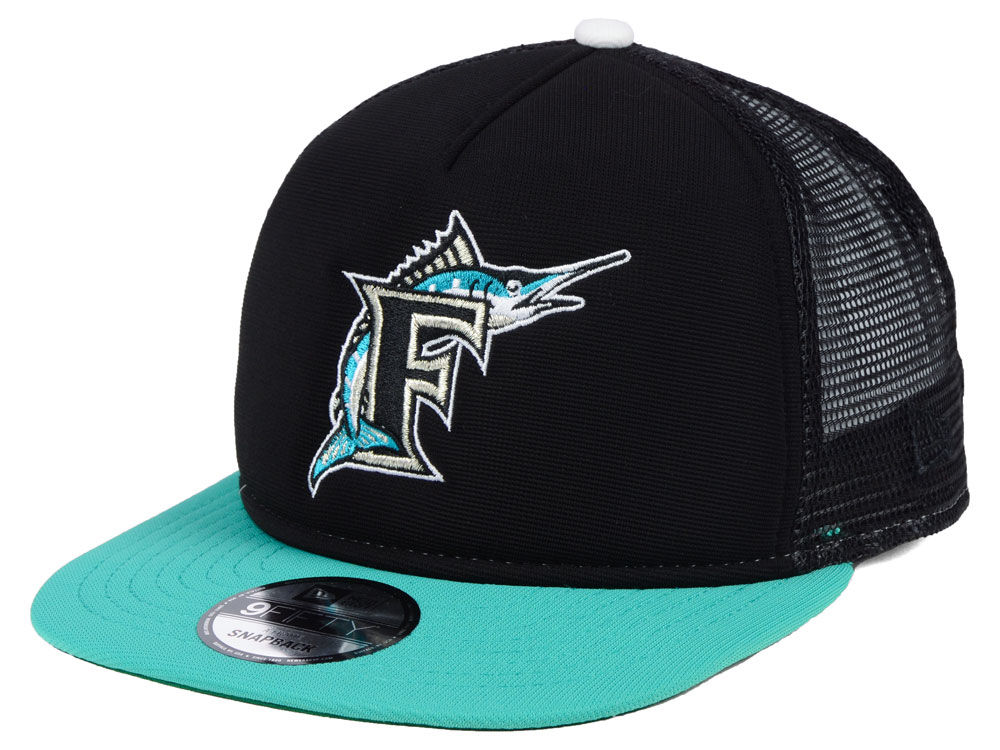 8d934c04b06 Florida Marlins New Era MLB Classic Trucker 9FIFTY Snapback Cap ...